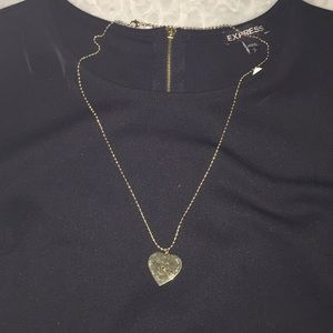 Marc jacobs loves me heart dog tag necklace